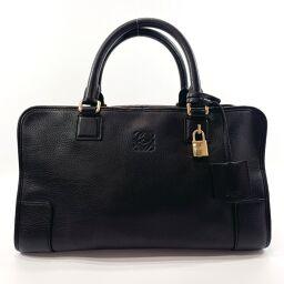 LOEWE Loewe Handbag Amazona Leather Black [Used] Ladies