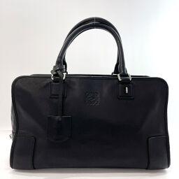 LOEWE Loewe Handbag Amazona 36 Leather Black [Used] Ladies