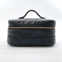 CHANEL Pouch Vanity Bicolore Lambskin Black [Used] Ladies