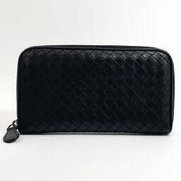 BOTTEGAVENETA Bottega Veneta long wallet 114076 V001N Intrecciato leather black [used] men's