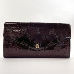LOUIS VUITTON Louis Vuitton Wallet M90152 Portofeuil Sara Amarant Monogram Verni Wine Red [Used] Ladies