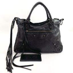 BALENCIAGA Balenciaga Handbag 527147 Classic Town Leather Black [Used] Ladies