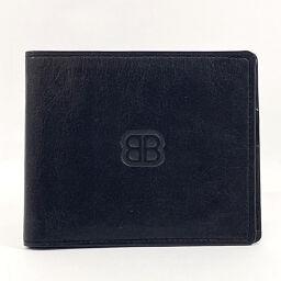 BALENCIAGA Balenciaga Bi-Fold Wallet Leather Black [Used] Men's