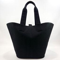 HERMES Hermes Tote Bag Pannier Plage PM Canvas Black [Used] Ladies