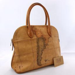 PRIMA CLASSE handbag PVC beige [pre-owned] Ladies