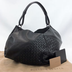 BOTTEGAVENETA Bottega Veneta Shoulder Bag Intrecciato Leather Black [Used] Ladies