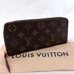 LOUIS VUITTON Louis Vuitton Wallet M60742 Portfoy Clemence Monogram Canvas Brown Pink [Used] Ladies