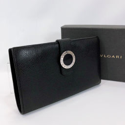 BVLGARI Bvlgari Long Wallet Bvlgari Bvlgari Leather Black [Used] Ladies