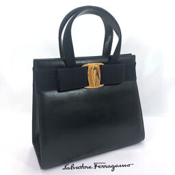 Salvatore Ferragamo Salvatore Ferragamo Handbag BA214178 Vala Leather Navy [Used] Ladies