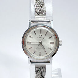 OMEGA Omega Watch Seamaster Manual Winding Vintage Stainless Steel Silver Manual Winding Off-White Dial [Used] Ladies