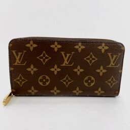 LOUIS VUITTON Louis Vuitton Wallet M41895 Zippy Wallet Monogram Canvas Brown Purple [Used] Ladies