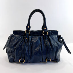MIUMIU Miu Miu Handbag RT0383 2WAY Leather Navy [Used] Ladies