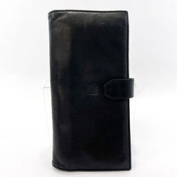 LOEWE Loewe long wallet L12 leather black [used] men's