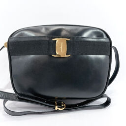 Salvatore Ferragamo Salvatore Ferragamo Shoulder Bag A214183 Vala Leather Black [Used] Ladies