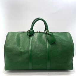 LOUIS VUITTON Louis Vuitton Boston Bag M42964 Keepol 50 Epi Leather Green [Used] Ladies