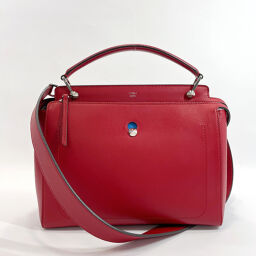 FENDI FENDI handbag 8BN293 dot com 2Way leather red silver metal fittings [used] ladies