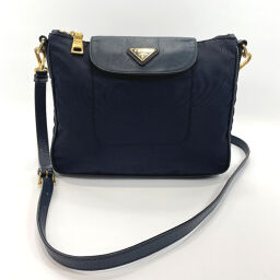 PRADA Prada Shoulder Bag Nylon Navy [Used] Ladies