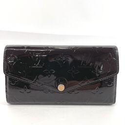LOUIS VUITTON Louis Vuitton Long Wallet M90152 Portofeuil Sara Monogram Verni Wine Red [Used] Ladies