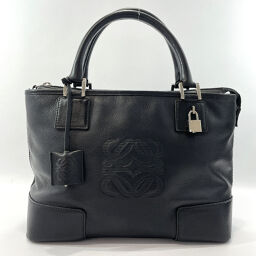 LOEWE Loewe Handbag Leather Black [Used] Ladies