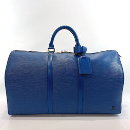 LOUIS VUITTON波士顿包M42965 Keepol 50 Epi皮革蓝色[二手]男士