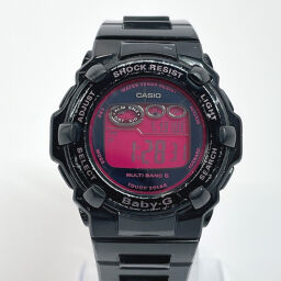 CASIO Casio Watch BGR-3003 Baby-G Synthetic Resin Black Pink Tough Solar Pink Dial [Used] Ladies