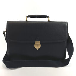 BALLY Bally Business Bag 2way Leather Black Gold Metal Fittings [Used] Men's
