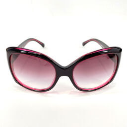 CHANEL Sunglasses 5183-12173 Coco Mark Synthetic Resin Red [Used] Ladies