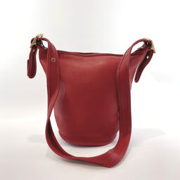 COACH Coach Shoulder Bag 9953 Old Coach Bucket Leather Red [Used] Ladies