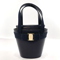 Salvatore Ferragamo Salvatore Ferragamo Handbag Vala Leather Navy [Used] Ladies
