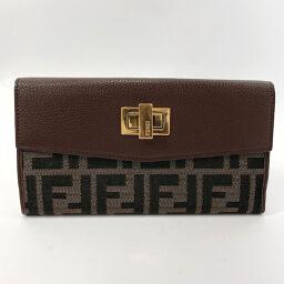 FENDI FENDI long wallet 8M0316 Zucca canvas brown [used] ladies