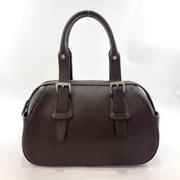 BURBERRY handbag leather dark brown [used] ladies