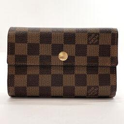 LOUIS VUITTON Louis Vuitton Tri-Fold Wallet N63067 Portofeuil Alexandra Damier Canvas Brown [Used] Ladies