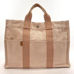 HERMES Hermes Tote Bag Fool To MM Toile Ash Orange [Used] Ladies