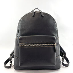 COACH Coach Backpack Daypack 11105 Leather Black Silver Hardware [Used] Men's