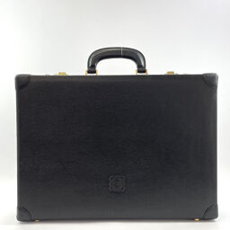 LOEWE Loewe Briefcase Attache Case Vintage Leather Black [Used] Men's