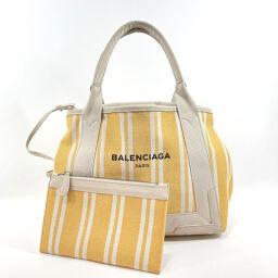 BALENCIAGA Balenciaga Tote Bag 339933.7161.B.535269 Navy Kabas Canvas Yellow Yellow [Used] Ladies