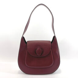 CARTIER Cartier Shoulder Bag Mastline One Shoulder Leather Bordeaux [Used] Ladies