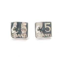 CHANEL Earrings Square Type Silver 925 Silver [Used] Ladies