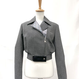 LOUIS VUITTON Louis Vuitton Riders Jacket 1A5QO0 LV Pop Cropped Perfect 2019AW Wool / Nylon Gray [Used] Ladies