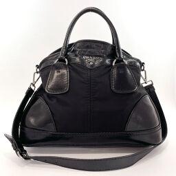 PRADA Prada Handbag 2way Nylon / Leather Black [Used] Ladies