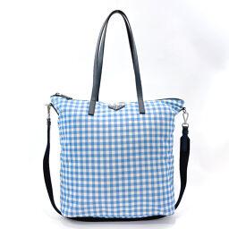 PRADA Prada Tote Bag 1BG189 2WAY Nylon / Saffiano Leather Light Blue Light Blue [Used] Ladies