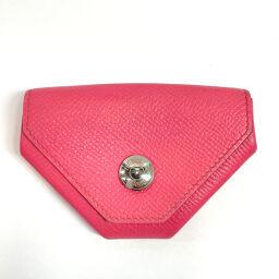 HERMES Hermes Coin Case H043103CK8W Le Vin Quatre Van Quatre Vaux Epson Pink Pink A Engraved Engraved [Used] Ladies