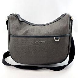 BVLGARI Bvlgari Shoulder Bag PVC Gray [Used] Men's