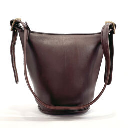 COACH Coach Shoulder Bag Old Coach Bucket Grain Leather Dark Brown [Used] Ladies