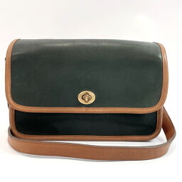 COACH Coach Shoulder Bag 1023 Old Coach Bicolor Grain Leather Moss Green Moss Green [Used] Ladies