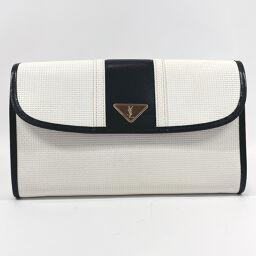 YVES SAINT LAURENT Yves Saint Laurent Clutch Bag Vintage Leather White White [Used] Unisex