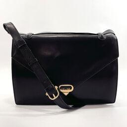 CELINE Celine Shoulder Bag Leather Black [Used] Ladies