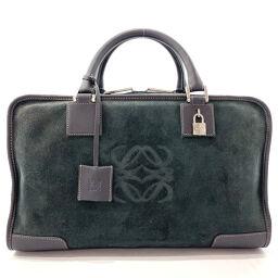 LOEWE Loewe Handbag Amazona 36 Suede / Leather Gray [Used] Ladies