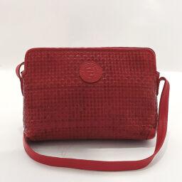 FENDI FENDI Shoulder Bag Vintage Intrecciato Leather Red [Used] Ladies