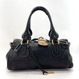 Chloe Chloe Handbag 03.06.51.5391 Paddington Leather Black [Used] Ladies